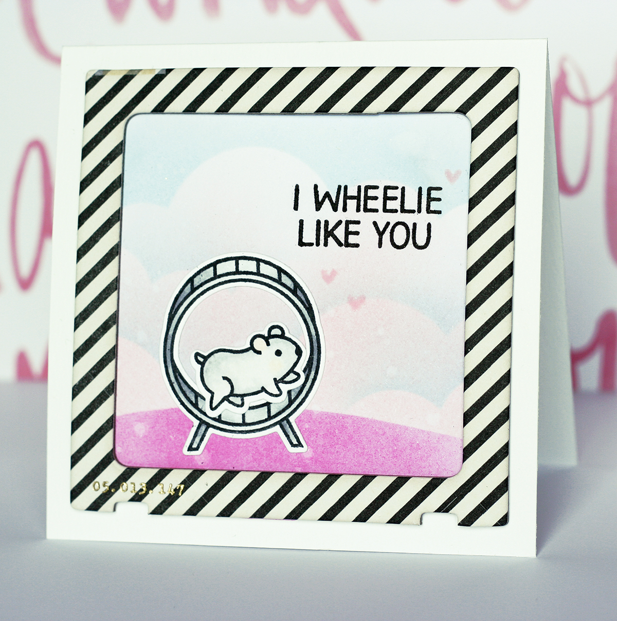 Design in papers lawn fawn hamster
