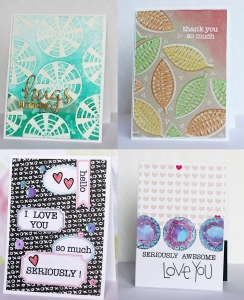 WOW embossing powders collage