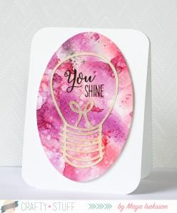 Pretty Crafty Stuff shine card