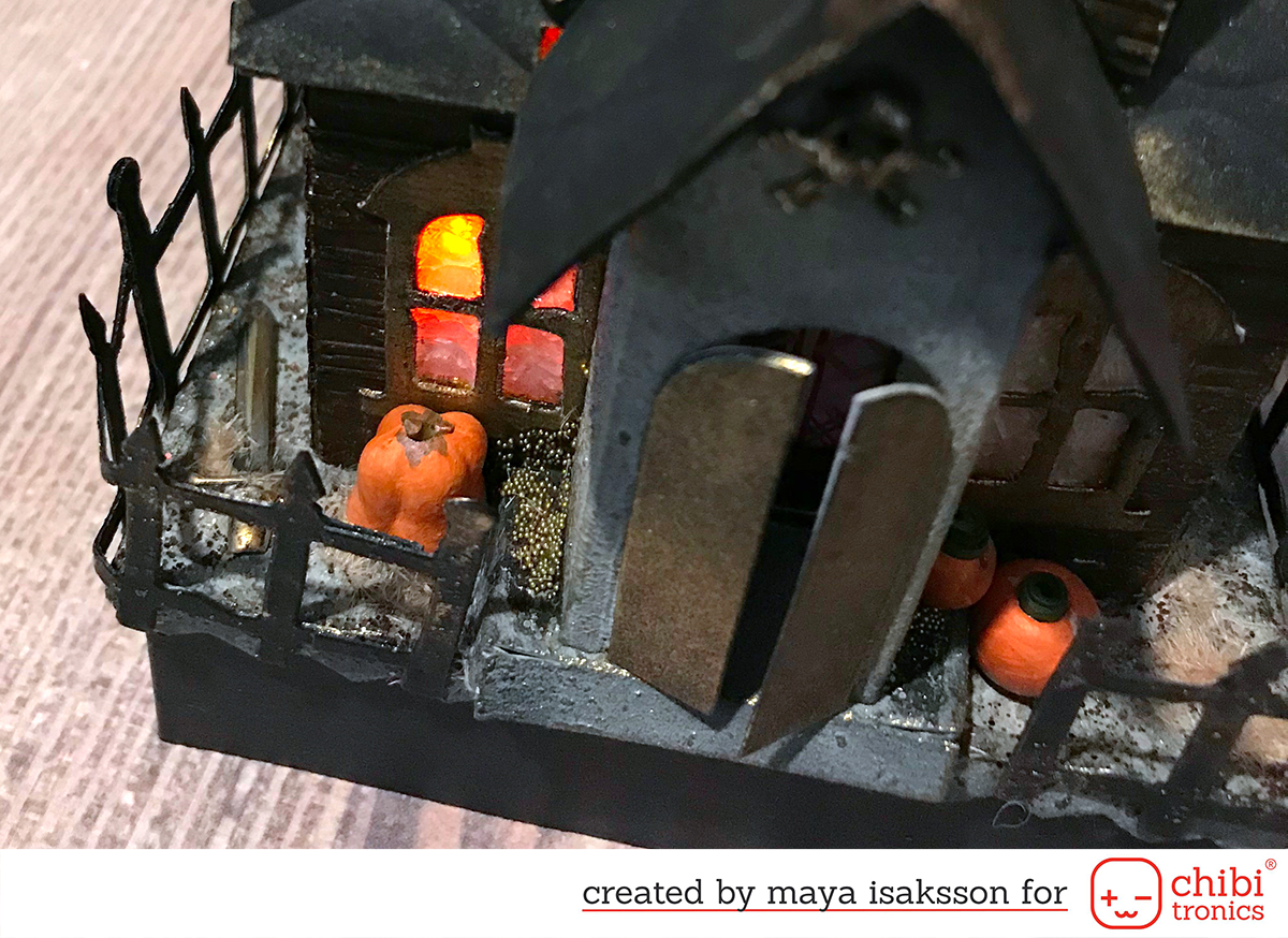 Maya Isaksson Haunted house chibitronics sizzix4