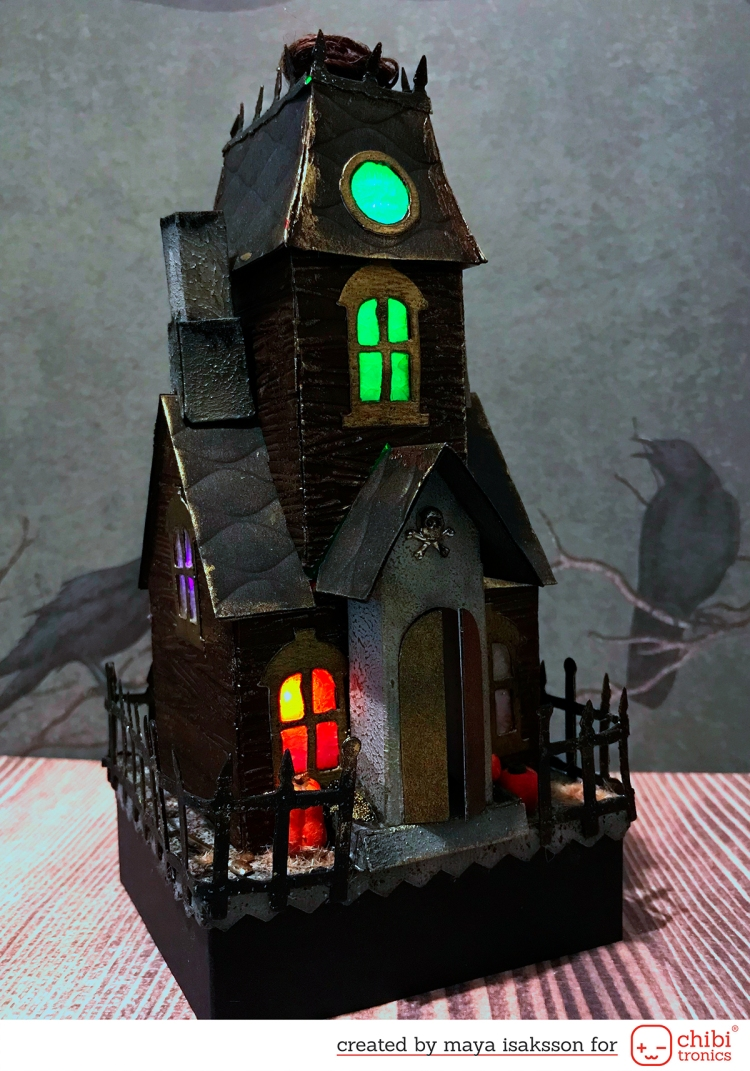 Maya Isaksson Haunted house chibitronics sizzix2