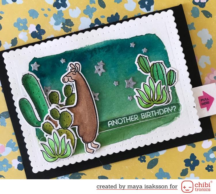 Maya Isaksson chibitronics mft stamps bloghop 2