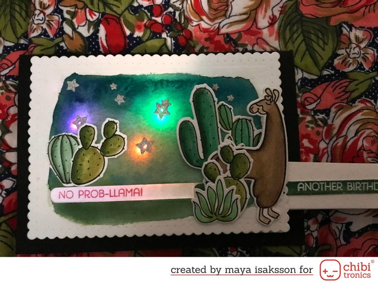 Maya Isaksson chibitronics mft stamps bloghop 3