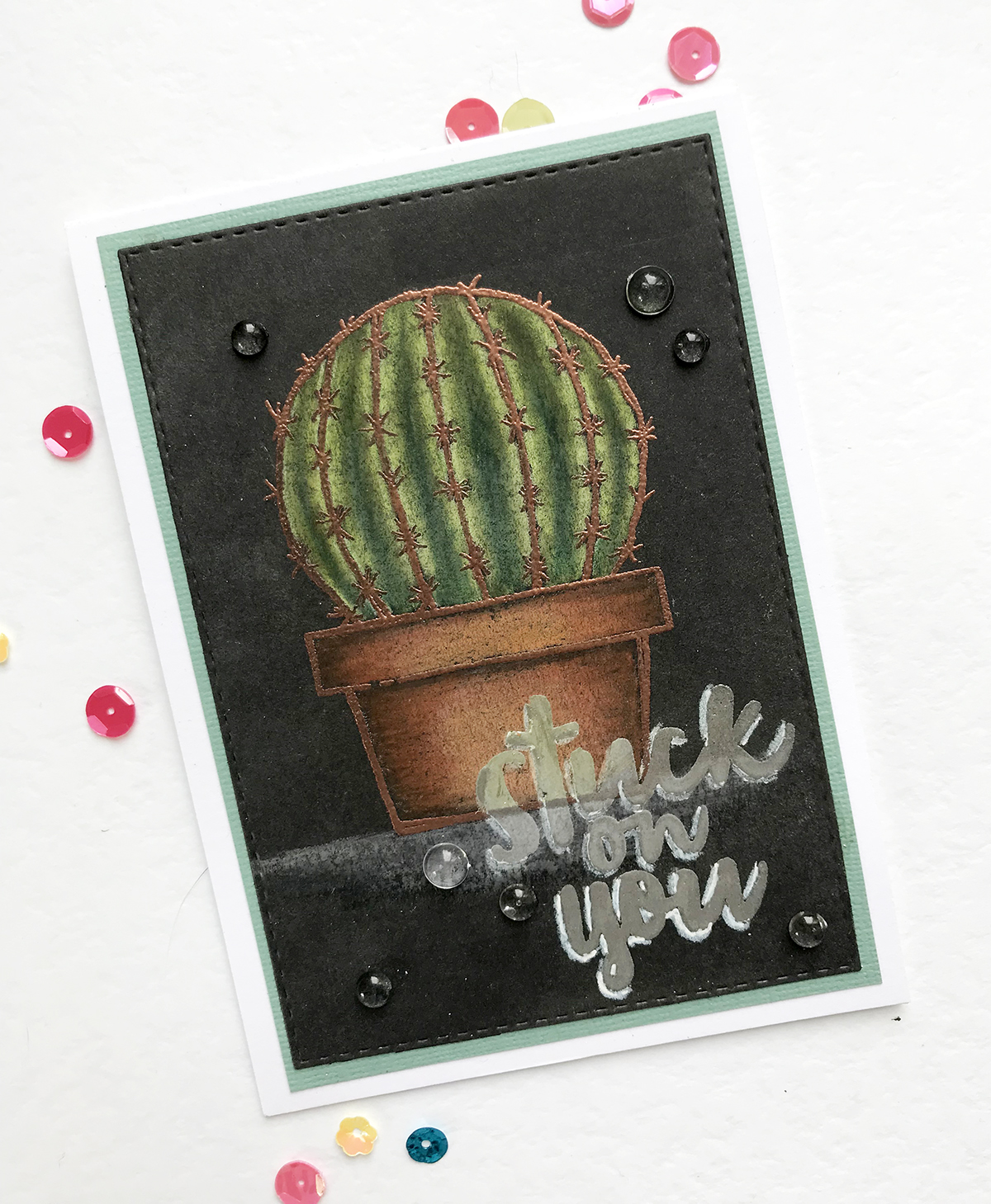maya isaksson embossed cactus