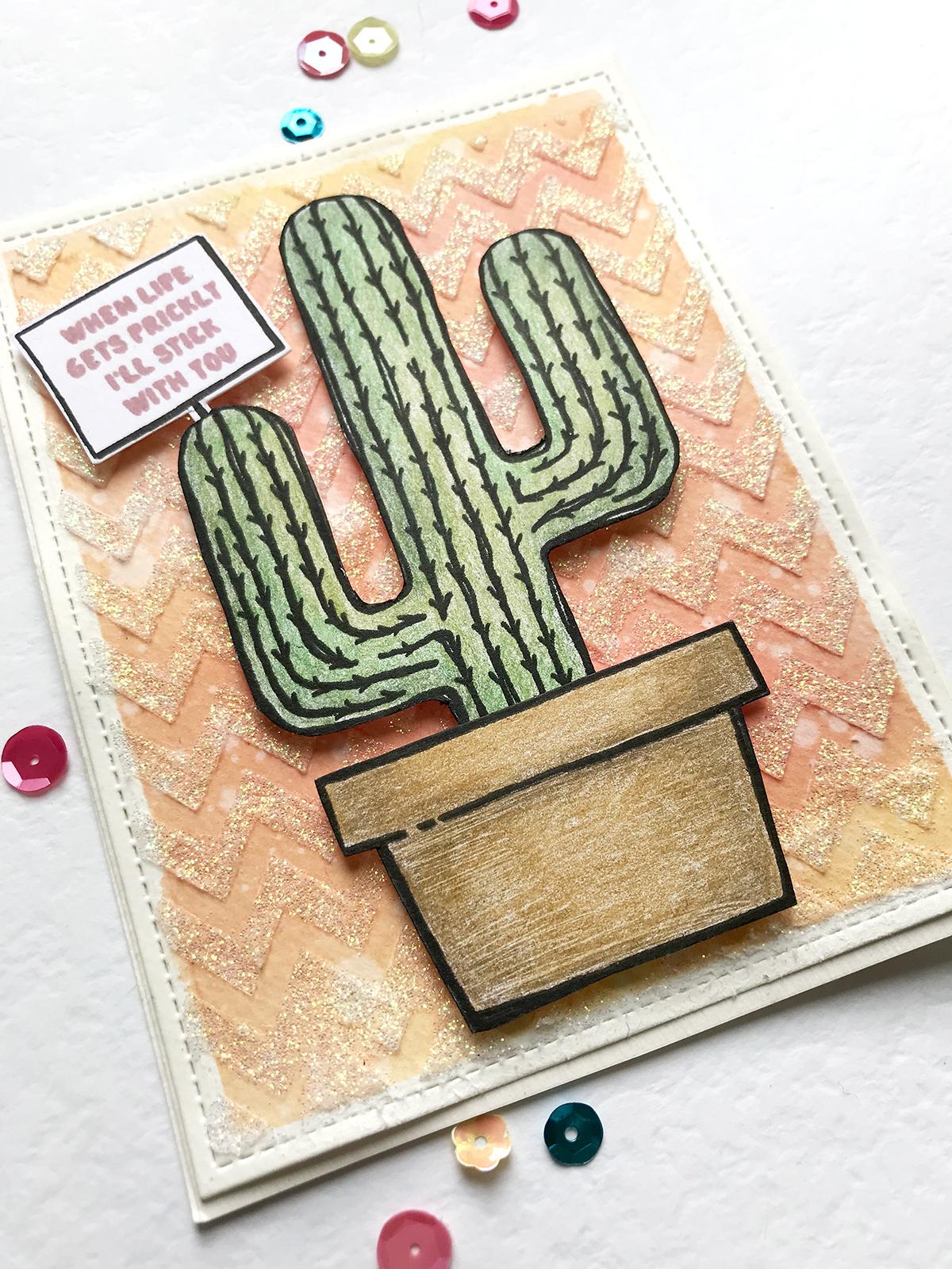 maya isaksson glitter background cactus2
